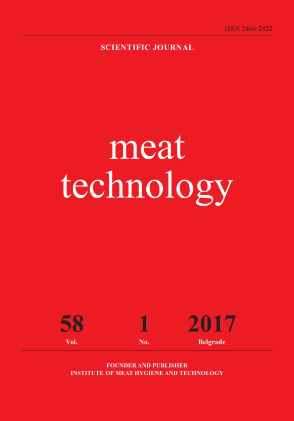 """""""Meat Technology"""" is the scientific journal that publishes results of basic and applied research in the field of biotechnical sciences i.e. the following subcategories: veterinary sciences, food engineering and biotechnology.  Journal """"Meat Technology"""" is abstracted in FSTA (Food Science and Technology Abstract). Full text is available in CABI Database, EBSCO publishing, AGRIS Database and www.inmesbgd.com."""